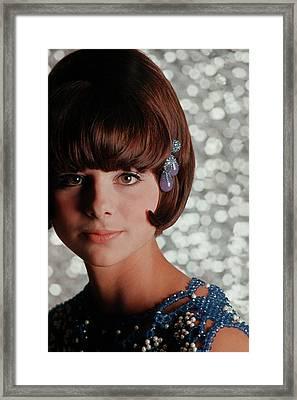 Model Wearing Noxzema And Cover Girl Make-up Framed Print