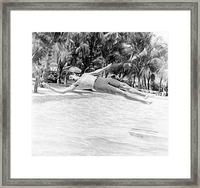 Model Wearing Robert Bruce Trunks Framed Print by Richard Waite