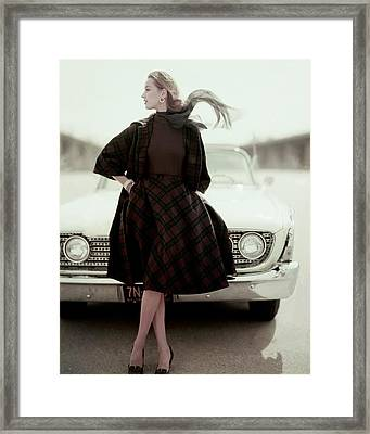 Model Wearing Suit By Bud Kilpatrick Framed Print
