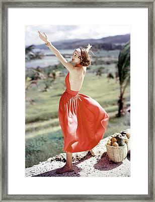 Model Wearing Sundress Framed Print