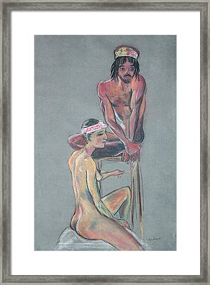 Models 2 Framed Print by Asha Carolyn Young