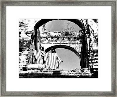 Models And Arches Framed Print