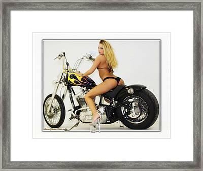 Models And Motorcycles_k Framed Print