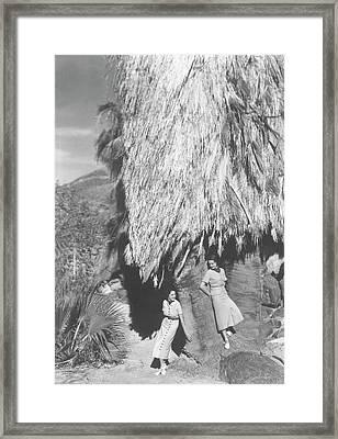 Models At Palm Springs Framed Print