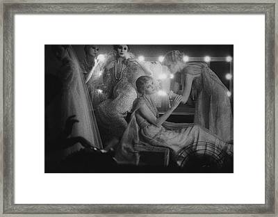 Models In A Dressing Room Framed Print