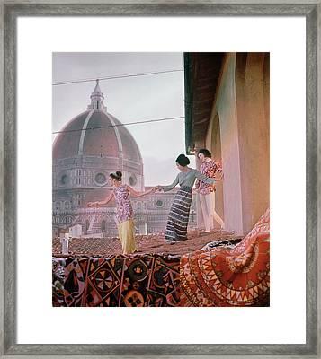 Models In Florence Framed Print