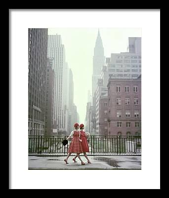 Walking Away Framed Prints