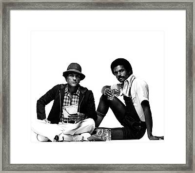 Models Wearing A Jacket And Overalls Framed Print by Albert Watson