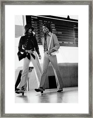 Models Wearing Anne Klein Pantsuits Framed Print