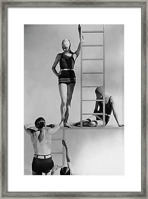 Models Wearing Bathing Suits Framed Print