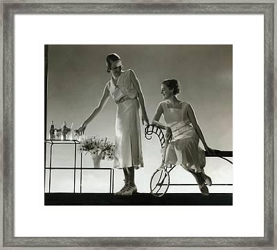 Models Wearing Dresses Framed Print