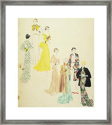 Models Wearing Jay-thorpe And Lillian Sloane Framed Print by Harriet Meserole