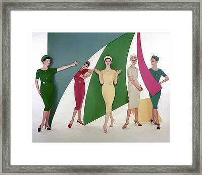 Models Wearing Matching Outfits Framed Print by William Bell