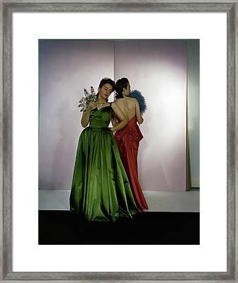 Models Wearing Nettie Rosenstein Dresses Framed Print by Horst P. Horst