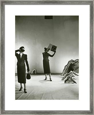 Models Wearing Schiaparelli Suits Framed Print by Cecil Beaton