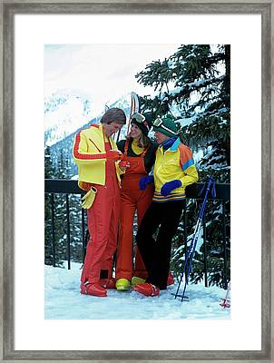 Models Wearing Ski Clothes Framed Print by William Connors