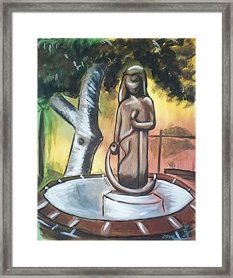 Modenian Fountain Framed Print