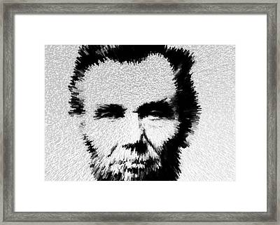 Modern Abe - Abraham Lincoln Art By Sharon Cummings Framed Print by Sharon Cummings