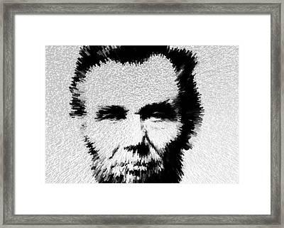 Modern Abe - Abraham Lincoln Art By Sharon Cummings Framed Print