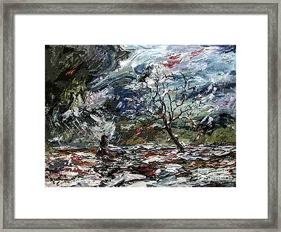 Modern Abstract Expressive Lost  Framed Print by Ginette Callaway