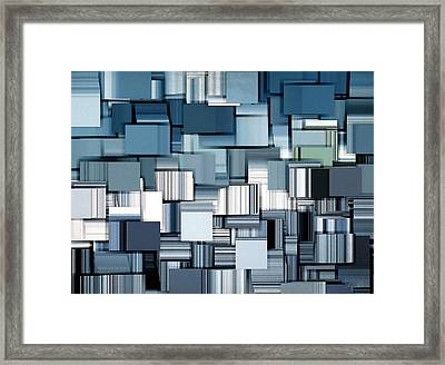 Modern Abstract II Framed Print by Lourry Legarde