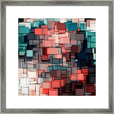 Modern Abstract Ix Framed Print by Lourry Legarde