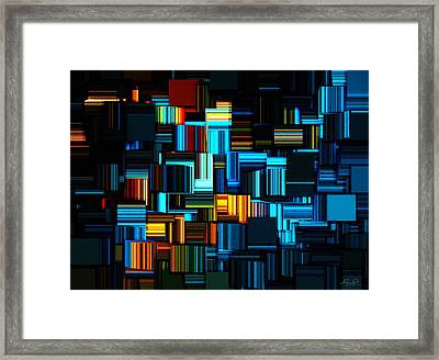 Modern Abstract V Framed Print by Lourry Legarde
