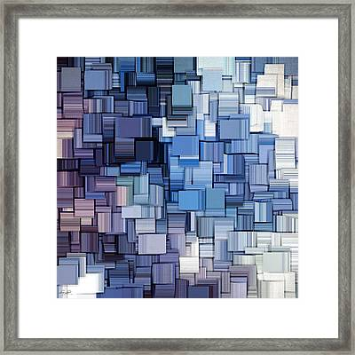 Modern Abstract Vi Framed Print by Lourry Legarde