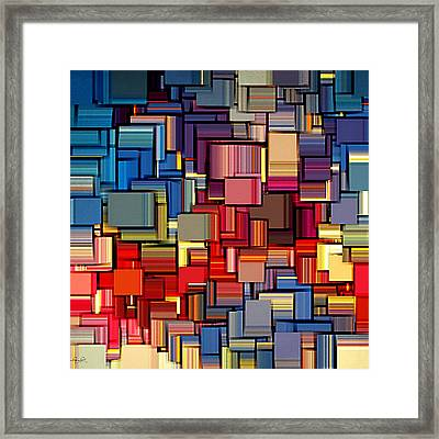 Modern Abstract Xii Framed Print by Lourry Legarde