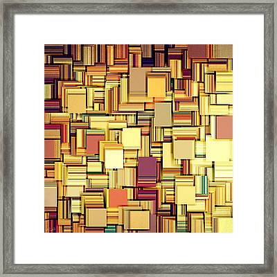 Modern Abstract Xxi Framed Print by Lourry Legarde