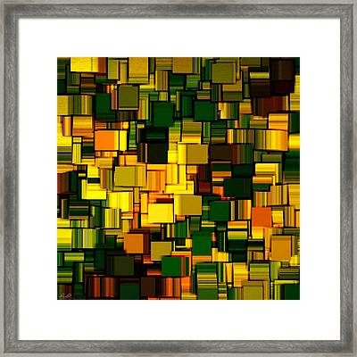 Modern Abstract Xxii Framed Print by Lourry Legarde