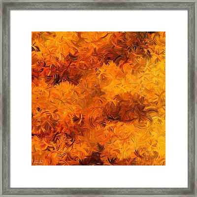 Modern Abstract Xxviii Framed Print by Lourry Legarde