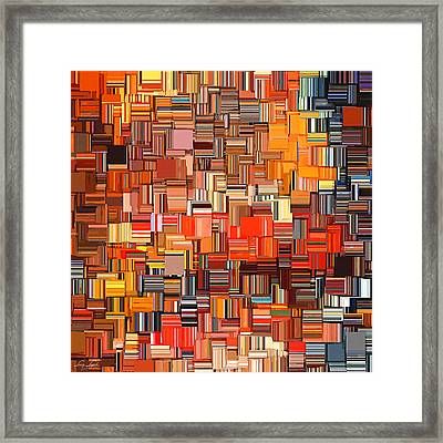 Modern Abstract Xxxi Framed Print by Lourry Legarde