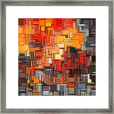 Modern Abstract Xxxiv Framed Print by Lourry Legarde