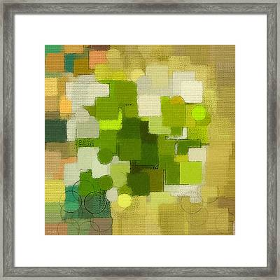 Modern Abstract Xxxv Framed Print by Lourry Legarde