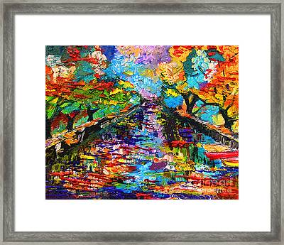 Modern Annecy France Decor Framed Print by Ginette Callaway