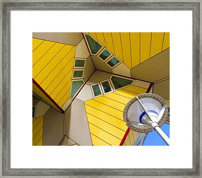 modern architecture in Rotterdam Framed Print