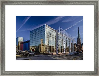 Modern Architecture In Small Town Framed Print