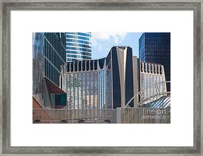 Modern Architecture La Defense Paris Framed Print by Liz Leyden