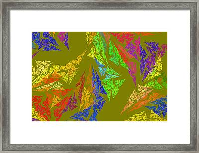 Modern Art Abstract Fractal Green Background Framed Print
