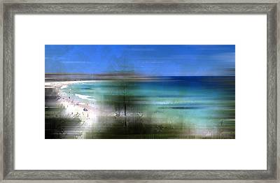 Modern-art Bondi Beach Framed Print