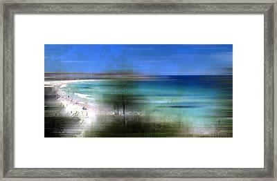 Modern-art Bondi Beach Framed Print