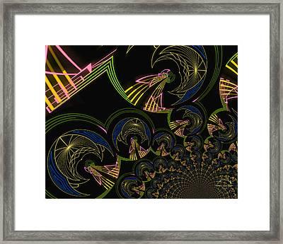 Modern Art Deco Framed Print