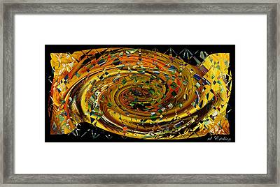 Framed Print featuring the digital art Modern Art II by rd Erickson