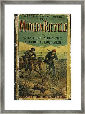 Modern Bicycle Framed Print by British Library