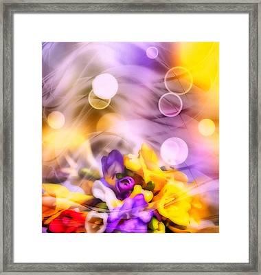 Modern Bouquet Framed Print