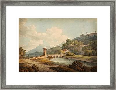Modern Bridge At Narni Framed Print by Celestial Images