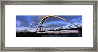 Modern Bridge Over A River, Infinity Framed Print by Panoramic Images