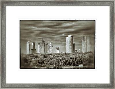 Modern Buenos Aires Black And White Framed Print by For Ninety One Days