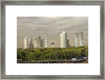 Modern Buenos Aires Framed Print by For Ninety One Days